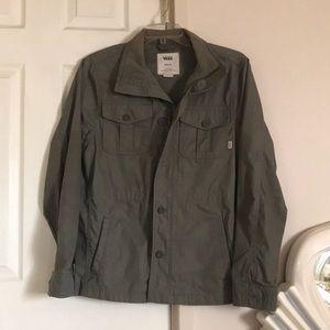EUC Vans Olive Green Military Style Jacket sz M